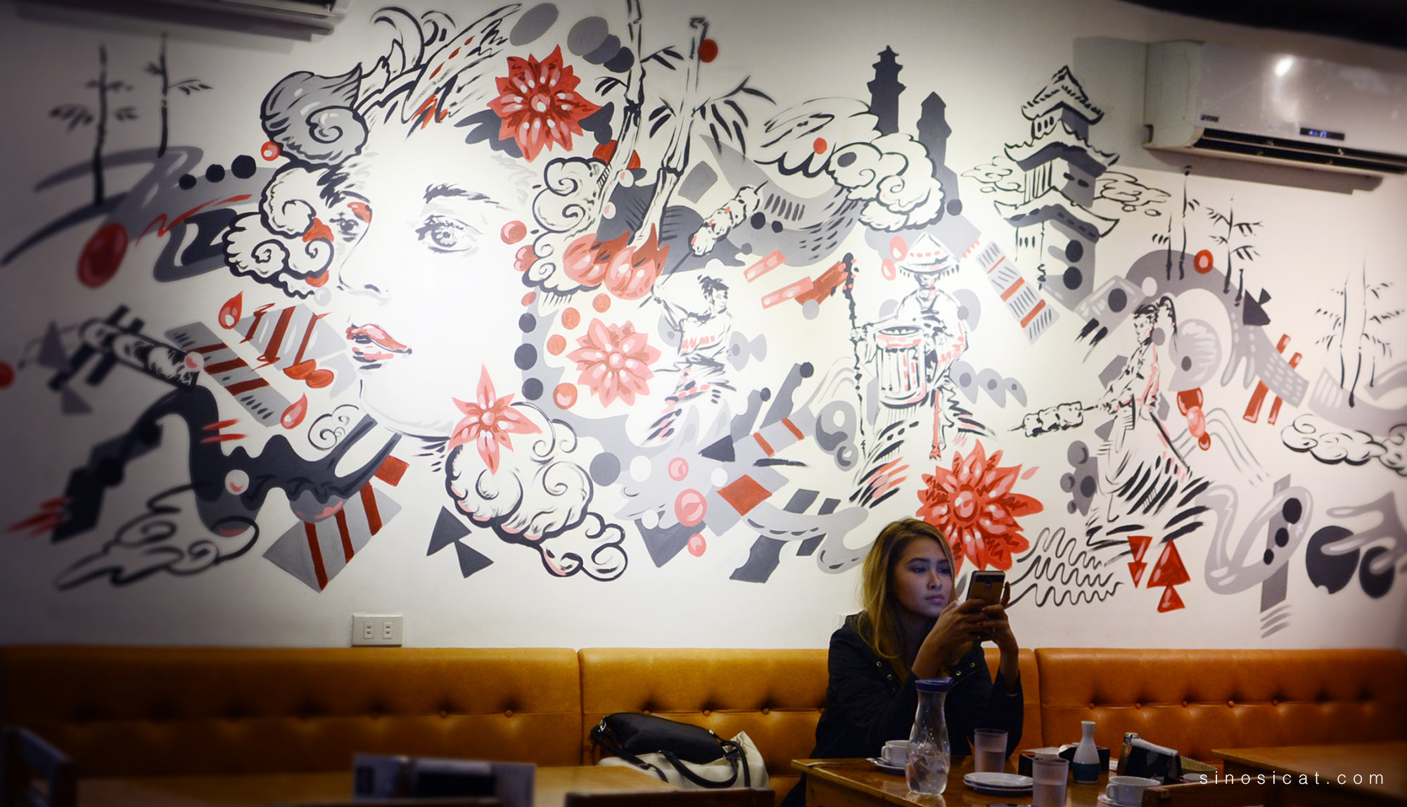 Modern Japanese Wall Art. Spot The Samurais Fighting With Skewers!